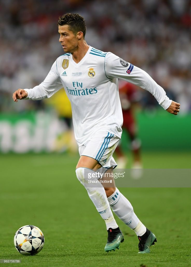 be90e20f8 Cristiano Ronaldo of Real Madrid runs with the ball during the UEFA Champions  League Final between Real Madrid and Liverpool at NSC Olimpiyskiy Stadium  on ...
