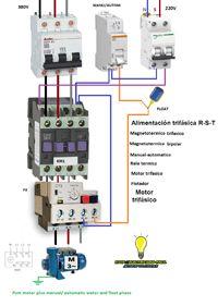 Esquemas eléctricos: pum motor plus manual/automatic water amd float ph...