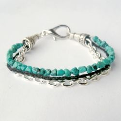 Blend different jewelry elements together to create a bracelet that's uniquely you!