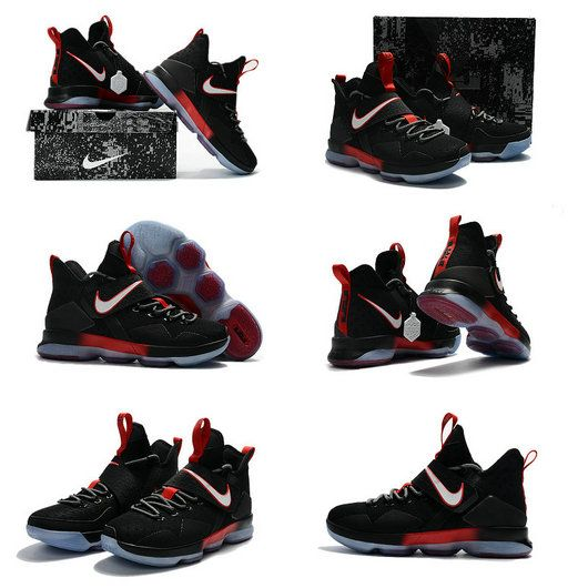 save off 51040 8fcdf Free Shipping Only 69  Nike Lebron 14 XIV New Colorways Bred Black Sport Red
