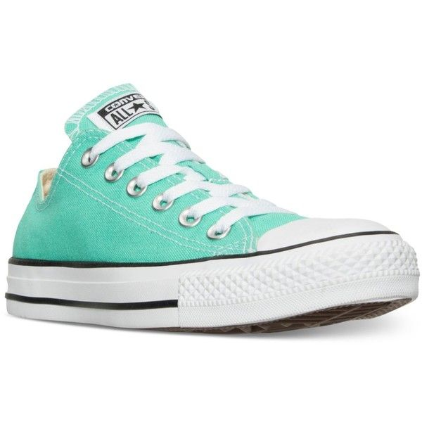 Converse Women's Chuck Taylor Ox Casual Sneakers from Finish Line ($55) ❤ liked on Polyvore featuring shoes, sneakers, menta, converse trainers, converse shoes, converse footwear, rugged shoes and vintage footwear