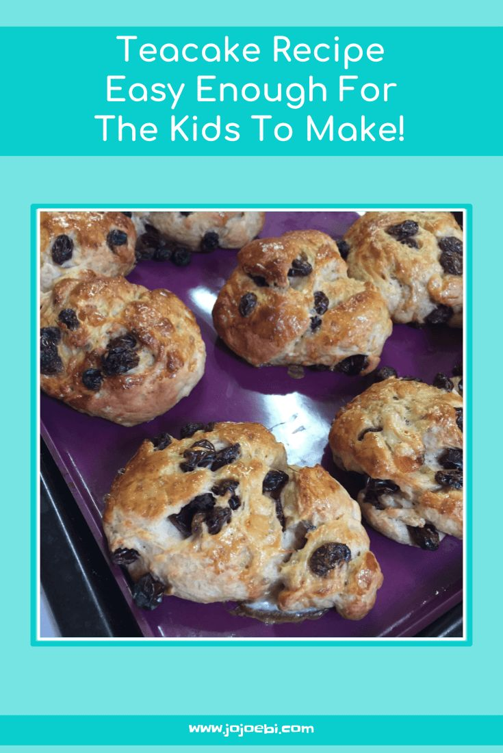 Easy teacake recipe that the kids can make on their own.