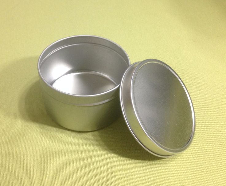 8 oz Silver Tin Container (2 Pack)