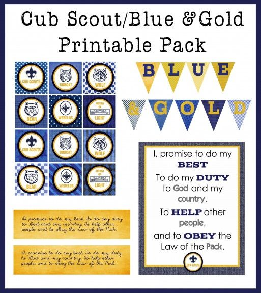 cub scouts blue and gold printable pack.
