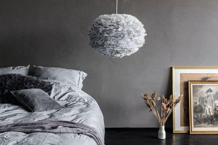EOS L grey fjäderlampa 65 cm, VITA