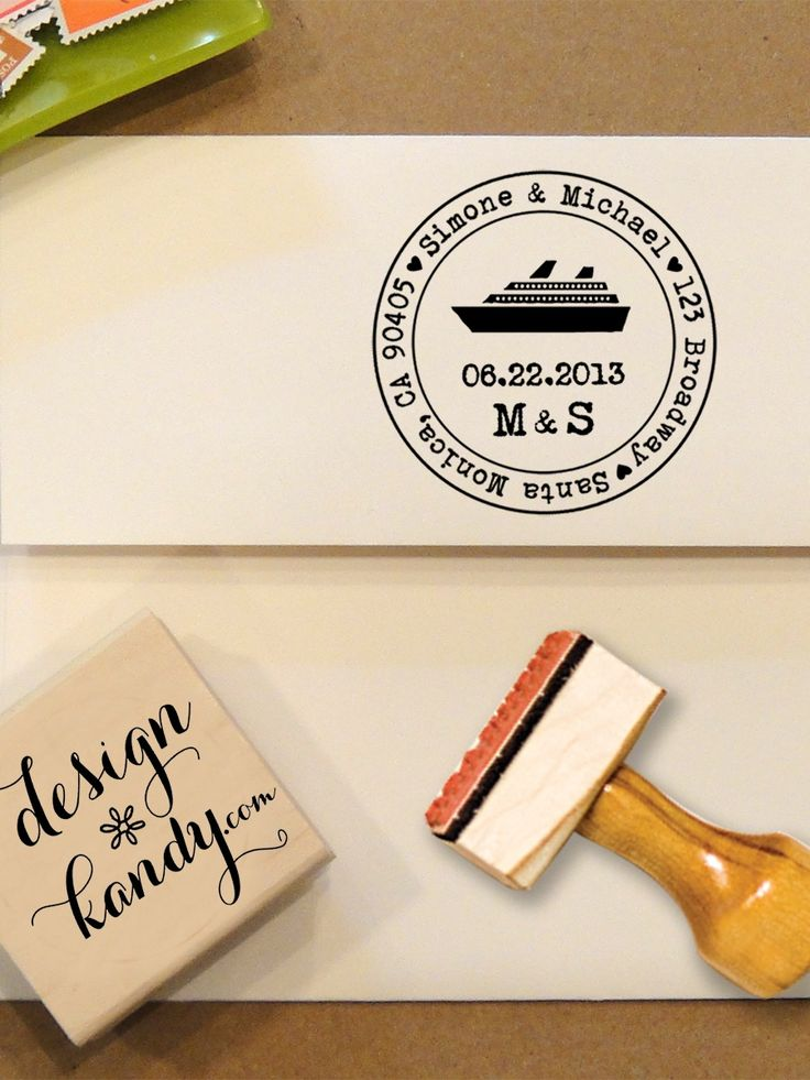 Cruise Ship Address Stamp for Save the Dates & Wedding Invitations with your date and initials - $26.00. http://www.youngrepublic.com/home-life/office-stationery/cruise-ship-address-stamp-for-save-the-dates-wedding-invitations-with-your-date-and-initials-copy2.html