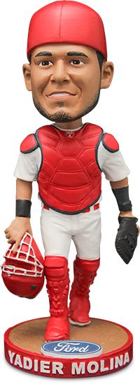 Come see the Cardinals take on the Cincinnati Reds on Saturday, April 8. 30,000 fans, ages 16 and older will receive their very own Yadier Molina Bobblehead, courtesy of Ford. A limited number of these bobbles will feature gold or platinum gloves. While you are at the ballpark, make your way to Ford Plaza to check out the life-sized version of this bobblehead that will be on display all season long.