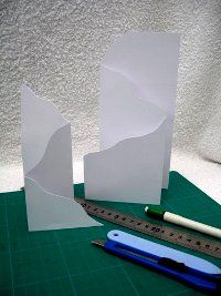 Tri-fold cards, another way to add shape.