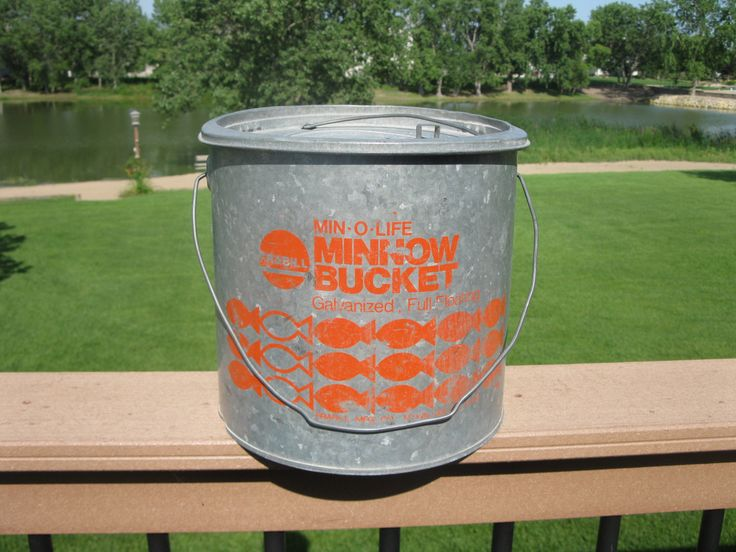 27 best images about vintage fishing buckets on pinterest for Old metal buckets