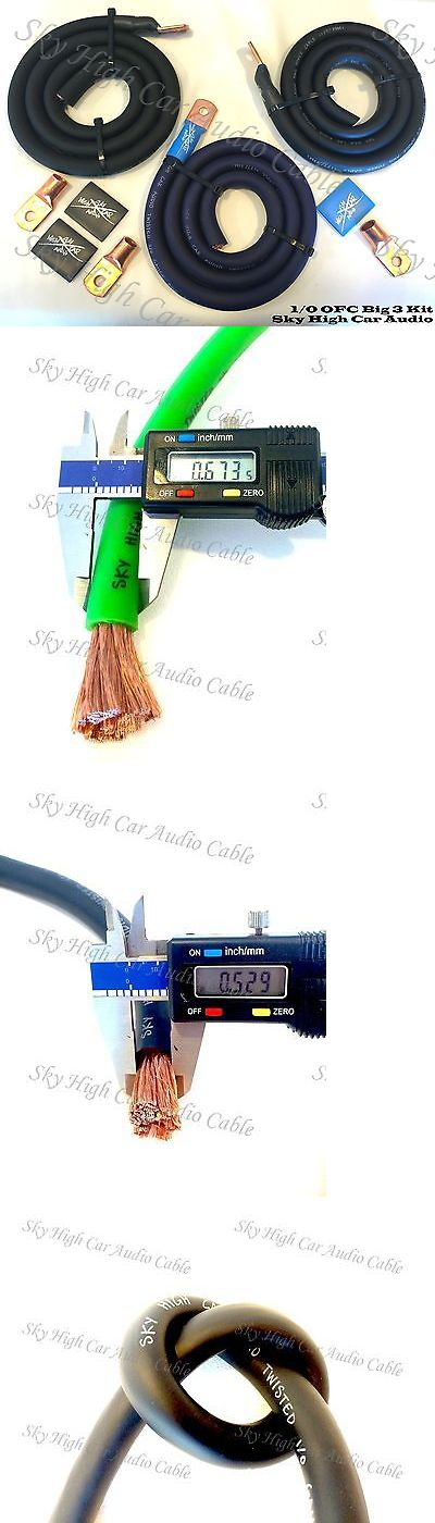 Amplifier Kits: Sky High Oversized 1 0 Gauge Ofc Awg Big 3 Upgrade Blue Black Electrical Wiring -> BUY IT NOW ONLY: $59.99 on eBay!