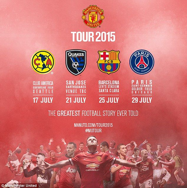 The Premier League giants will face Club America, San Jose Earthquakes, Barcelona and PSG