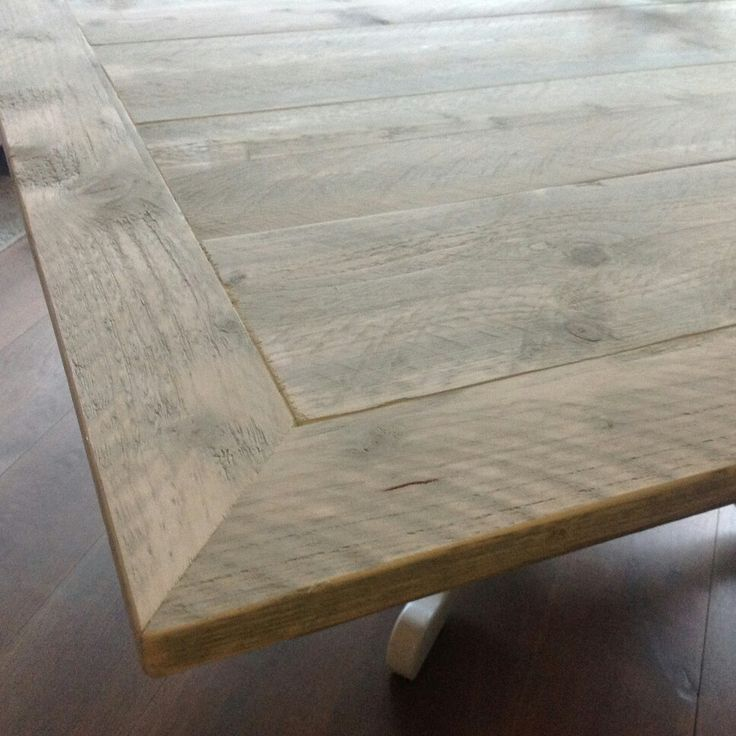 Tafelblad steigerhout 150 x 150 cm.
