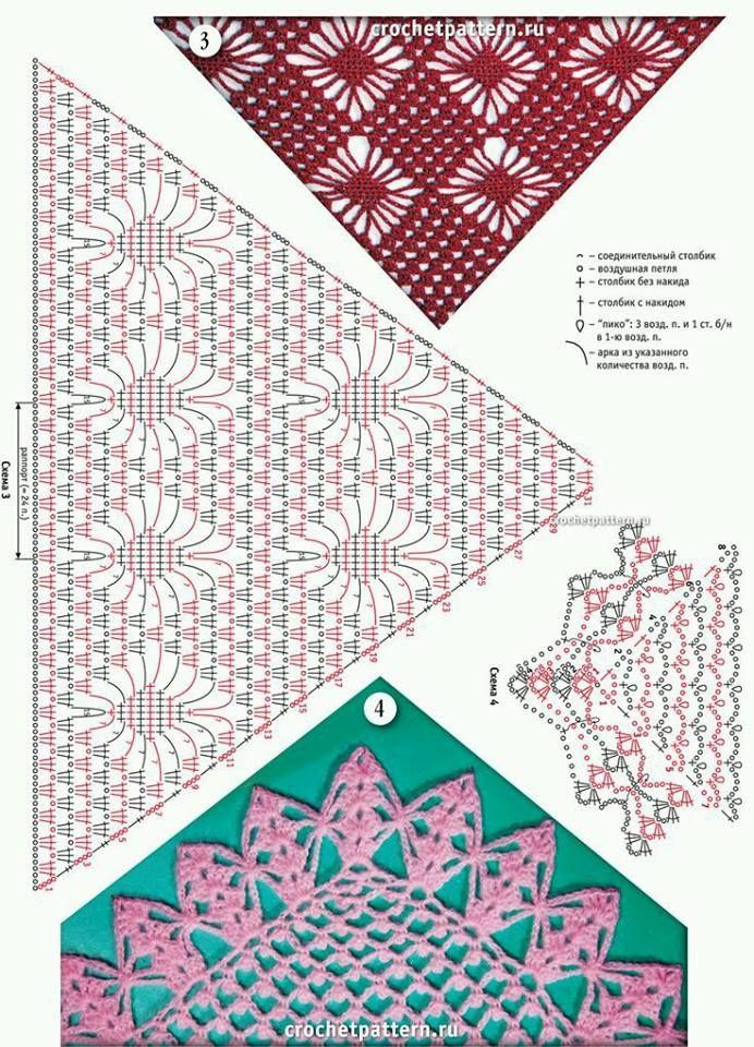 82 best Crochê images on Pinterest | Patrones de ganchillo, Puntadas ...
