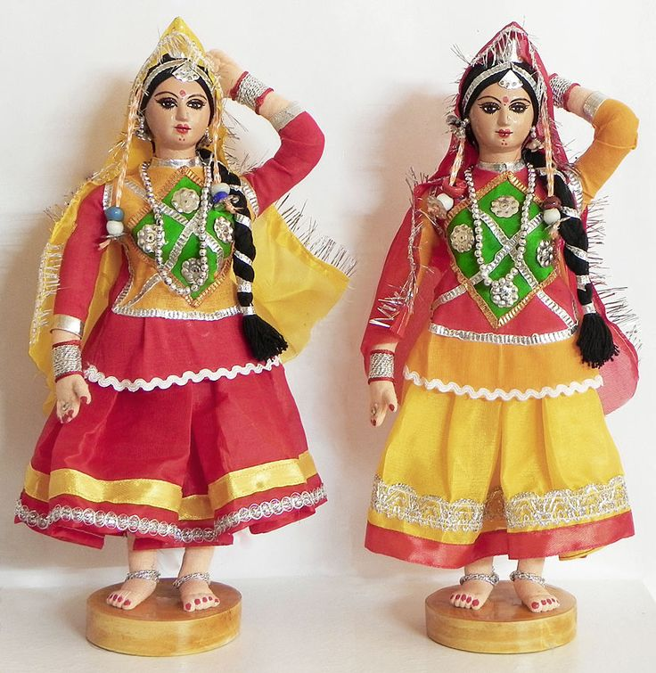 Folk Dancers from Rajasthan, India - Costume Cloth Dolls