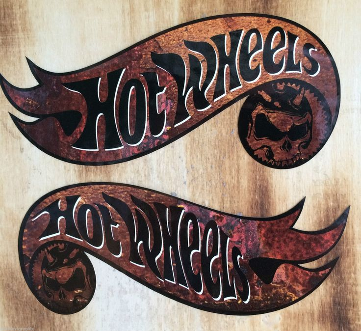 2x oldschool sticker hotwheels rusty retro rost aufkleber biker rockabilly