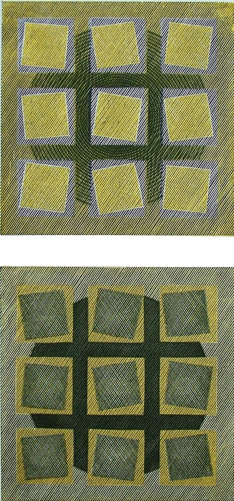 Edwina Ellis RE, Squares BY II, wood engraving & vinyl cut. Contact info@banksidegallery.com for further details. See www.banksidegallery.com for other prints and paintings.