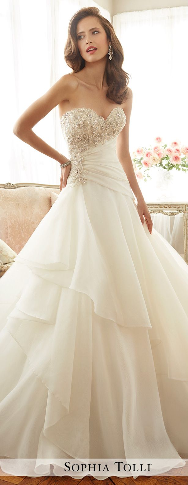 Wedding Dress by Sophia Tolli Spring 2017 Bridal Collection More