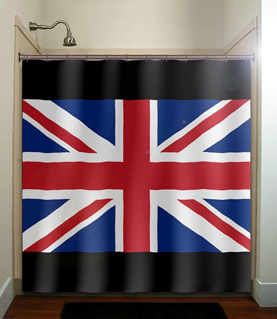 United Kingdom Uk Union Jack England Flag Shower Curtain Bathroom Decor Fabric Kids Bath Window