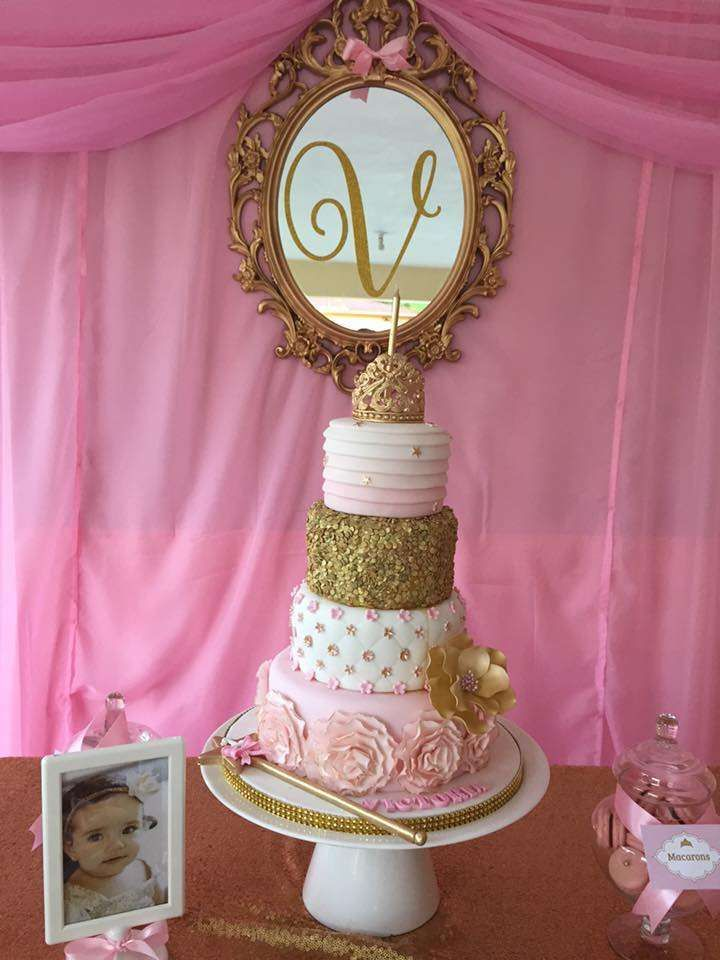 Gorgeous princess pink & gold birthday party! See more party ideas at CatchMyParty.com!