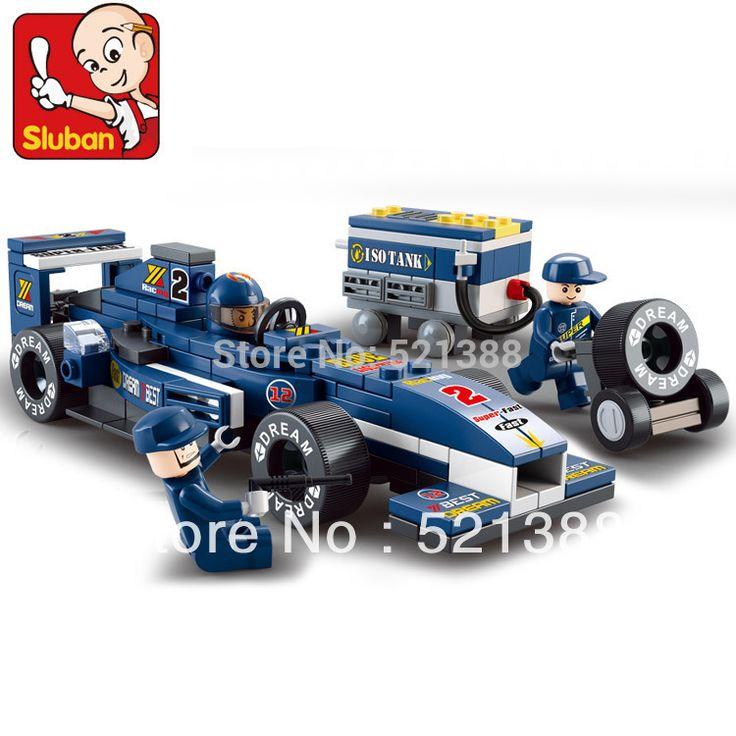 Развивающие Игрушки для детей Sluban Строительных игрушки F1 гоночный автомобиль кирпичи, Совместимые с Лего высокое qaulity