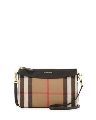 House Check Crossbody Bag, Black by Burberry at Neiman Marcus.