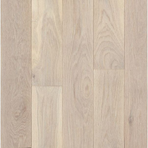 Features:  Finish: -Antiqued white.  Surface Texture: -Smooth.  Material: -Manufactured wood.  Species: -Oak.  Protective Coating: -Yes.  Edge Type: -Kissed.  Installation Type: -Staple/Glue/Float.  C