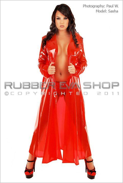 Long Plastic Dressing Gown Nightwear Rubber Eva Shop