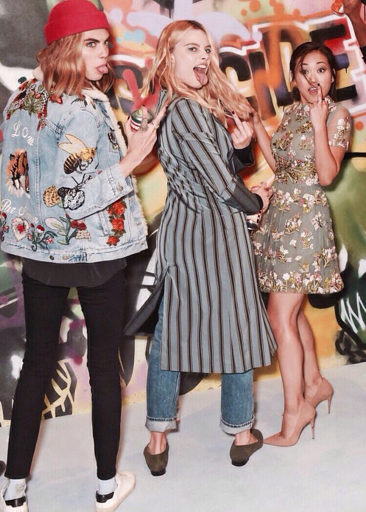 Cara Delevingne, Margot Robbie & Karen Fukuhara