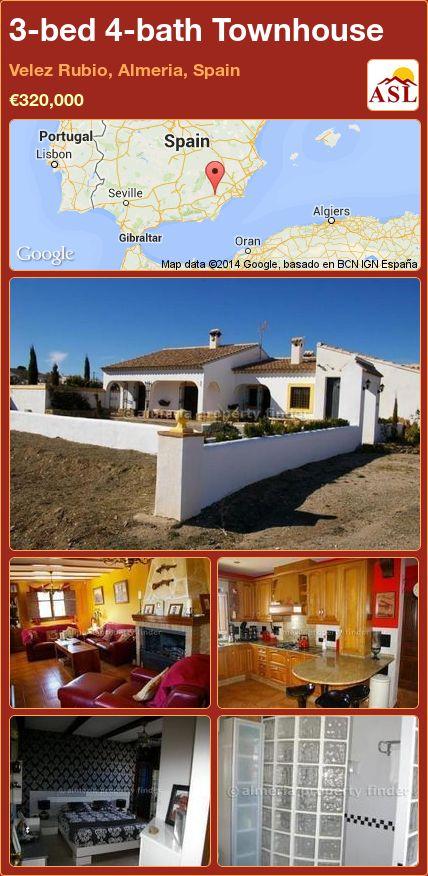 3-bed 4-bath Townhouse in Velez Rubio, Almeria, Spain ►€320,000 #PropertyForSaleInSpain