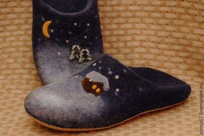 Обувь ручной работы. Ярмарка Мастеров - ручная работа. Купить тапочки валяные. Handmade. Тапочки из шерсти, тапки из войлока