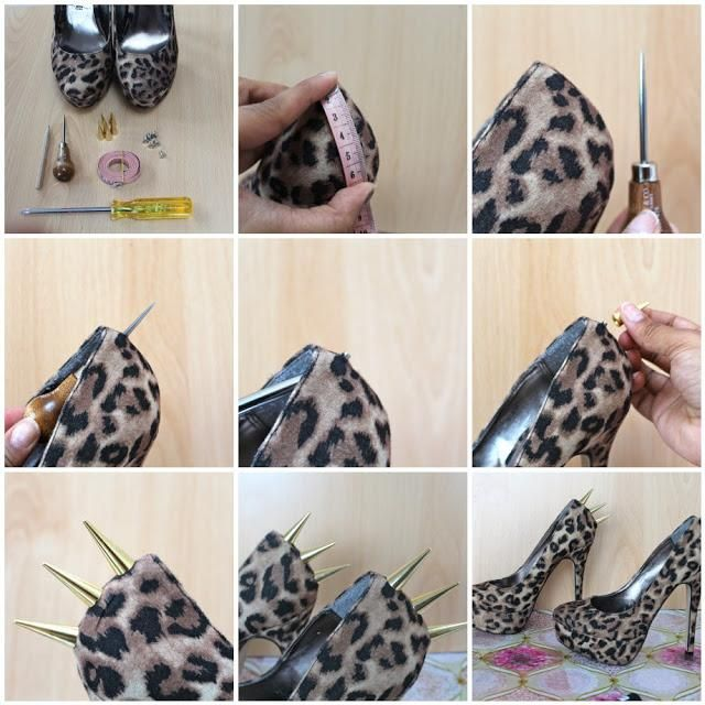 DIY Spikes : DIY Spiked Heels : DIY Clothes DIY Refashion