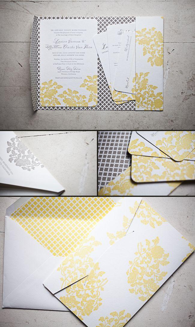 wedding stationery folders%0A Folder  Yellow Wedding InvitationsWedding