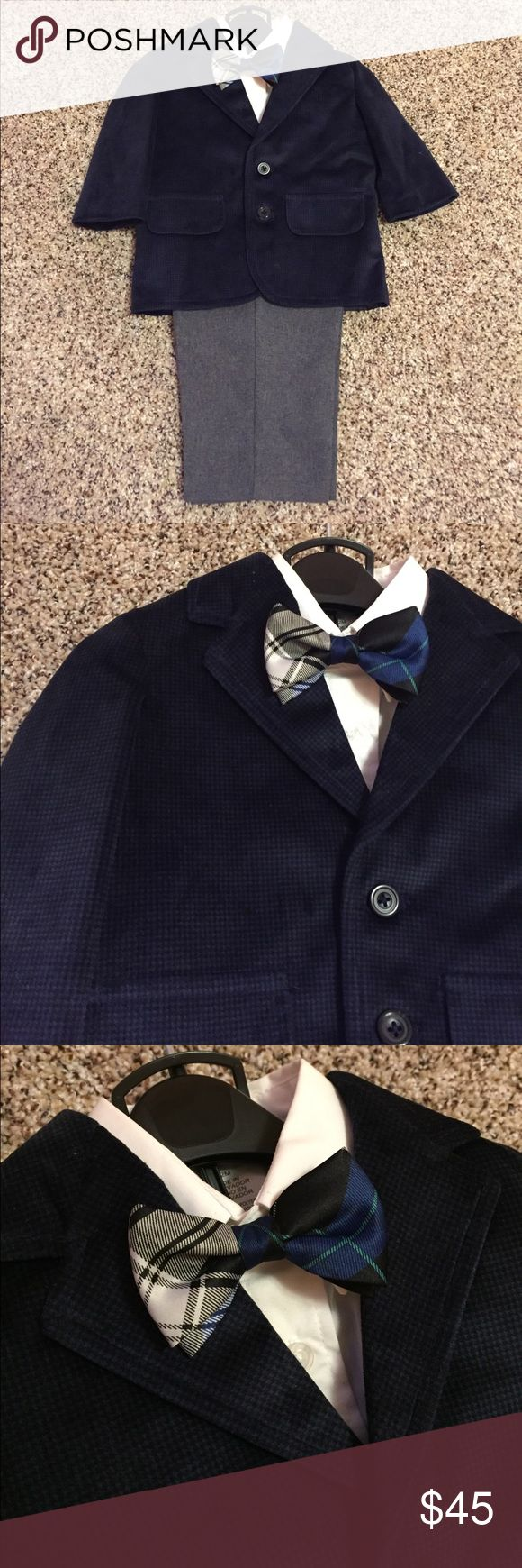 Baby boy outfit New! Very cute 4 piece set. Velour jacket Nautica Matching Sets