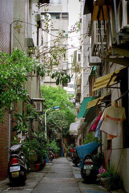 Taipei, Taiwan; (I used to live in Taipei and saw so many streets like this; beautiful city)