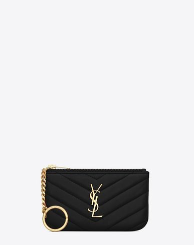 442e3d81855 SAINT LAURENT MONOGRAM SAINT LAURENT KEY POUCH IN BLACK MATELASSÉ LEATHER. # saintlaurent #