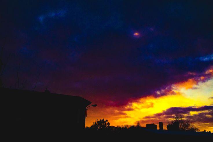 #sky #skyporn #city #sunrise #clouds #fire #burn #project