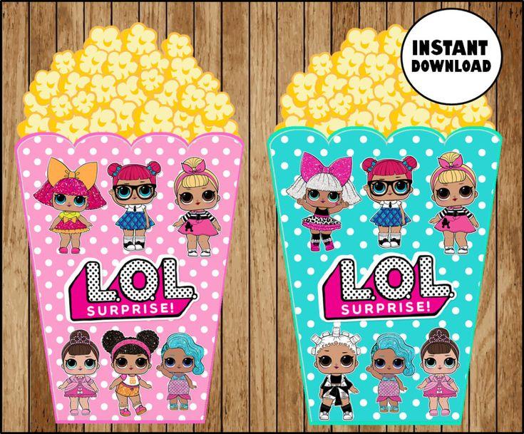 LOL Überraschungspuppen Banner, druckbare LOL Puppen Party Banner, LOL Überraschungsdreieck …   – Kira