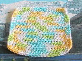 0442 Hand crochet dish cloth 6 by 6 by LandLCandlesandCraft on Etsy