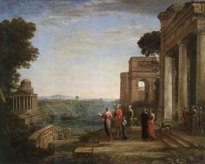 Aeneas's Farewell to Dido in Carthago 1676  Claude Lorrain (Gellee)