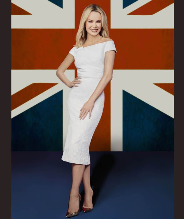 Amanda Holden shows off her curves in figure hugging dress for Britain's Got Talent pictures