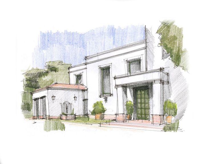 Croquis arquitectura croquis architecture croquis for Croquis de casas