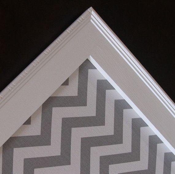"Framed Fabric Magnet Board - Magnetic Bulletin Board, 18"" x 24"" Memo Board Vintage Wedding Kitchen Nursery, Bulletin board, Photo display"