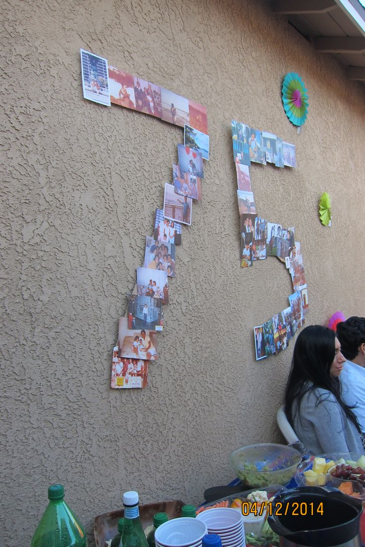 1000 Ideas About 75th Birthday Decorations On Pinterest
