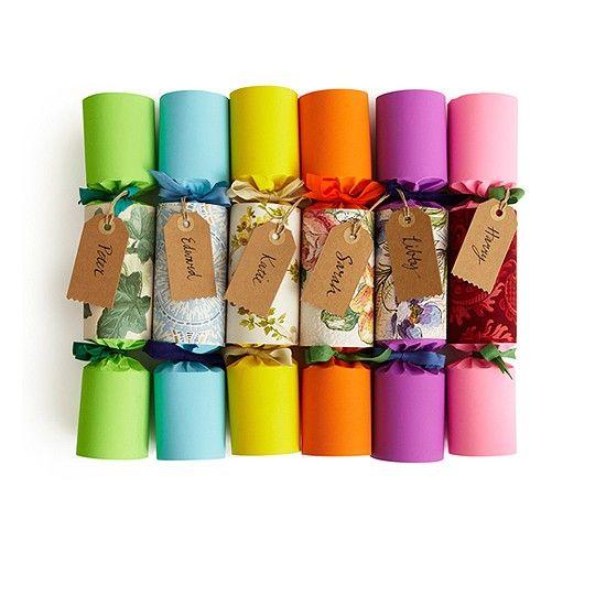 Vintage says it best...Rainbow Wallpaper Christmas Crackers from Sarah Moore Vintage