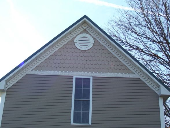 Victorian fish scale siding fish scale the dentil for Fish scale shingles