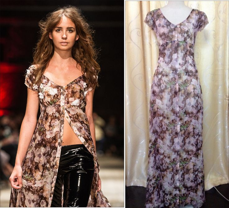 Printed Silk Maxi Dress In Black Version From Customer's Fashion Show