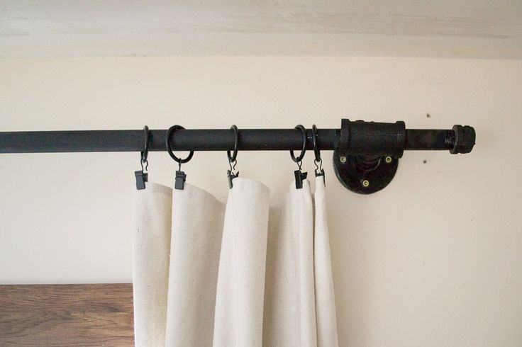 25 Best Industrial Curtains Ideas On Pinterest Pipe Curtain Rods Industrial Curtain Rod And