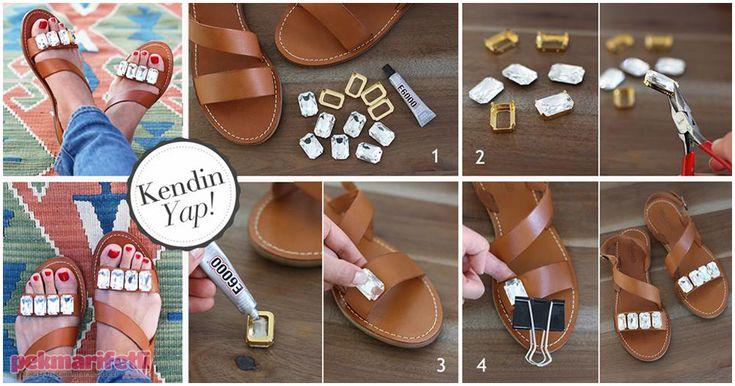 Küçük taşlarla sandaletinizi hareketlendirin | Yenileme | Pek Marifetli!