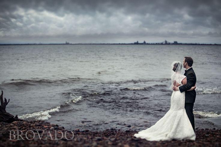 Lake Superior wedding photo
