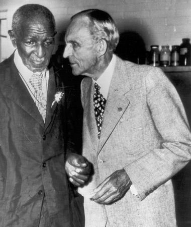 George Washington Carver and Henry Ford were close friends. Ford had an elevator installed in Carver's dormitory at Tuskegee so that Carver could get to his laboratory more easily in his later years
